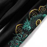 Dragon Embroidered Tops