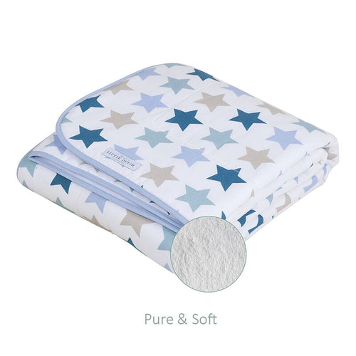 Little Dutch - Decke Wiegendecke 70x100 cm pure & soft mixed stars mint