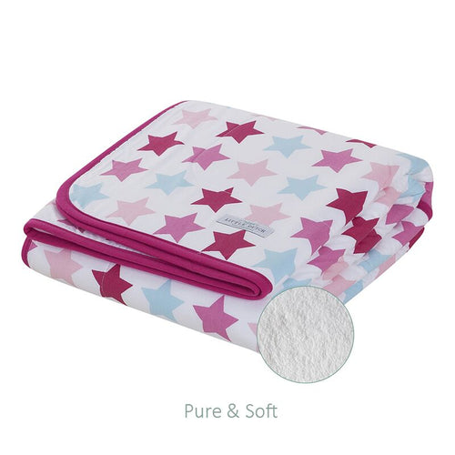 Little Dutch - Decke Wiegendecke 70x100 cm pure & soft mixed stars pink