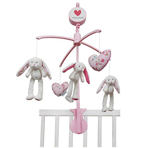 Little Dutch Musik Mobile Hase inkl. Halterung mixed stars pink 4310