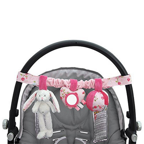 Little Dutch Wagenkette Stoff Hase mixed stars pink 4312