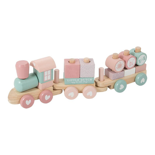 Little Dutch Holz Eisenbahn Zug Bausteine adventure pink 4416