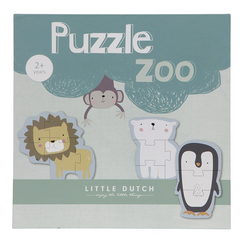 Little Dutch - Puzzle Zoo Tiere