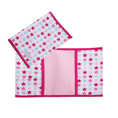 Little Dutch Mutterpass Stoff Hülle mixed stars pink 6162