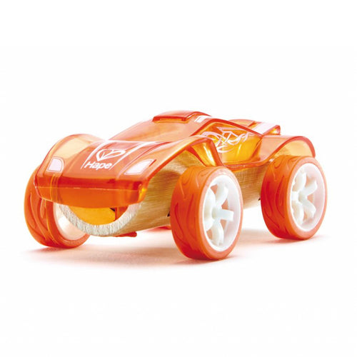 Hape - Bambus Fahrzeug Auto Twin Turbo orange