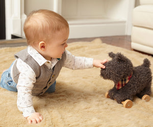 Little Bird told me - Stoff Hund Nachziehtier Hund Schnauzer Scottie