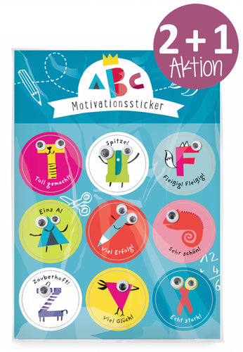 Oetinger Verlag - Schulanfang ABC Motivationssticker 2+1 SPAR-AKTION