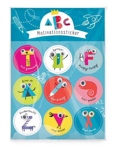 Oetinger Verlag - Schulanfang ABC Motivationssticker
