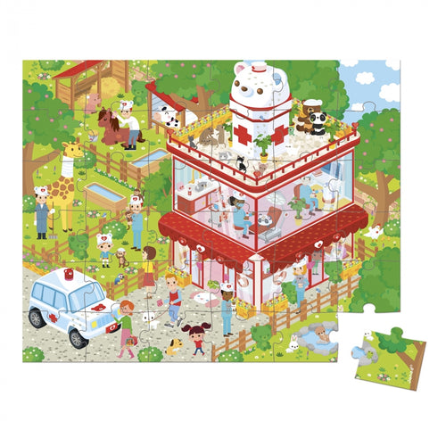 Janod Puzzlekoffer 36 Teile Puzzle