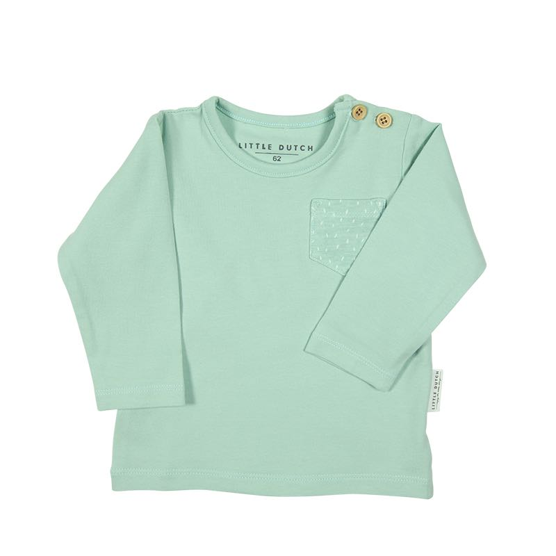 Little Dutch - Baby Langarm Shirt mint
