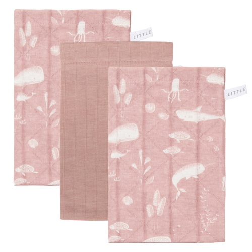 Little Dutch - Waschlappen Set 3tlg. ocean pink