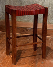 Load image into Gallery viewer, William Sheppee Saddle Seat Bar Stool 30""