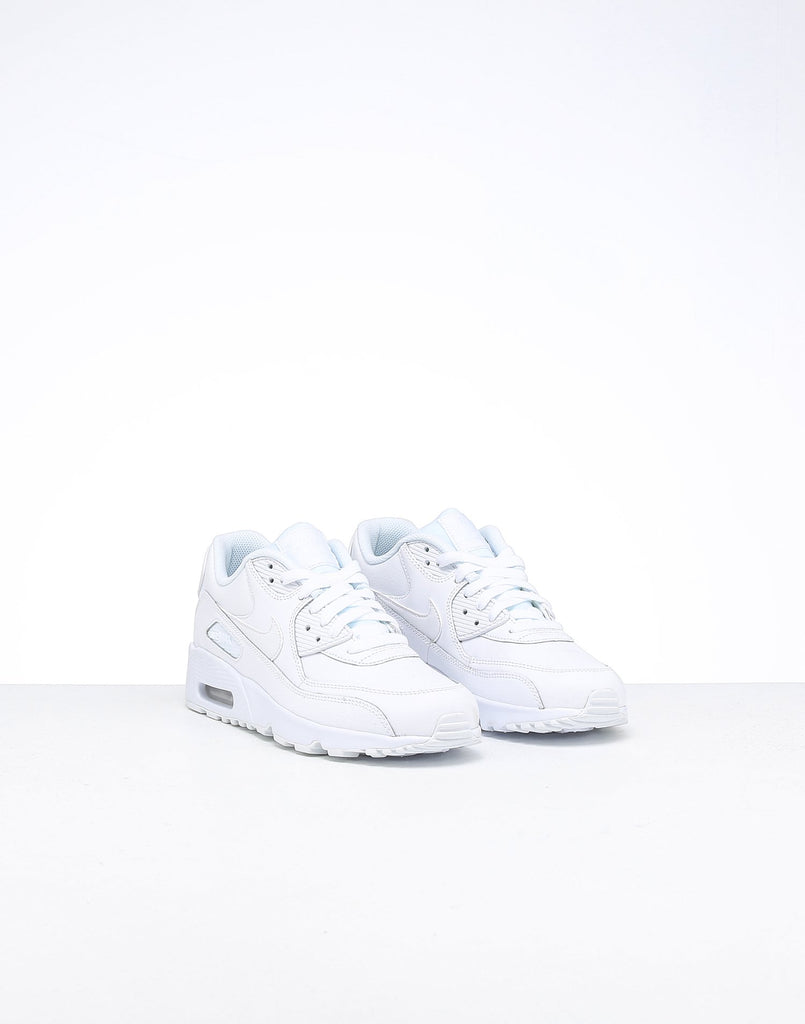 Nike Air Max 90 Leather Older Kids' Shoe WhiteWhite – Our