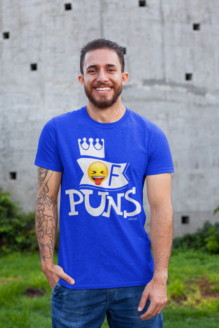Official Licensed emoji Printed T-Shirt for Men - King Of Puns
