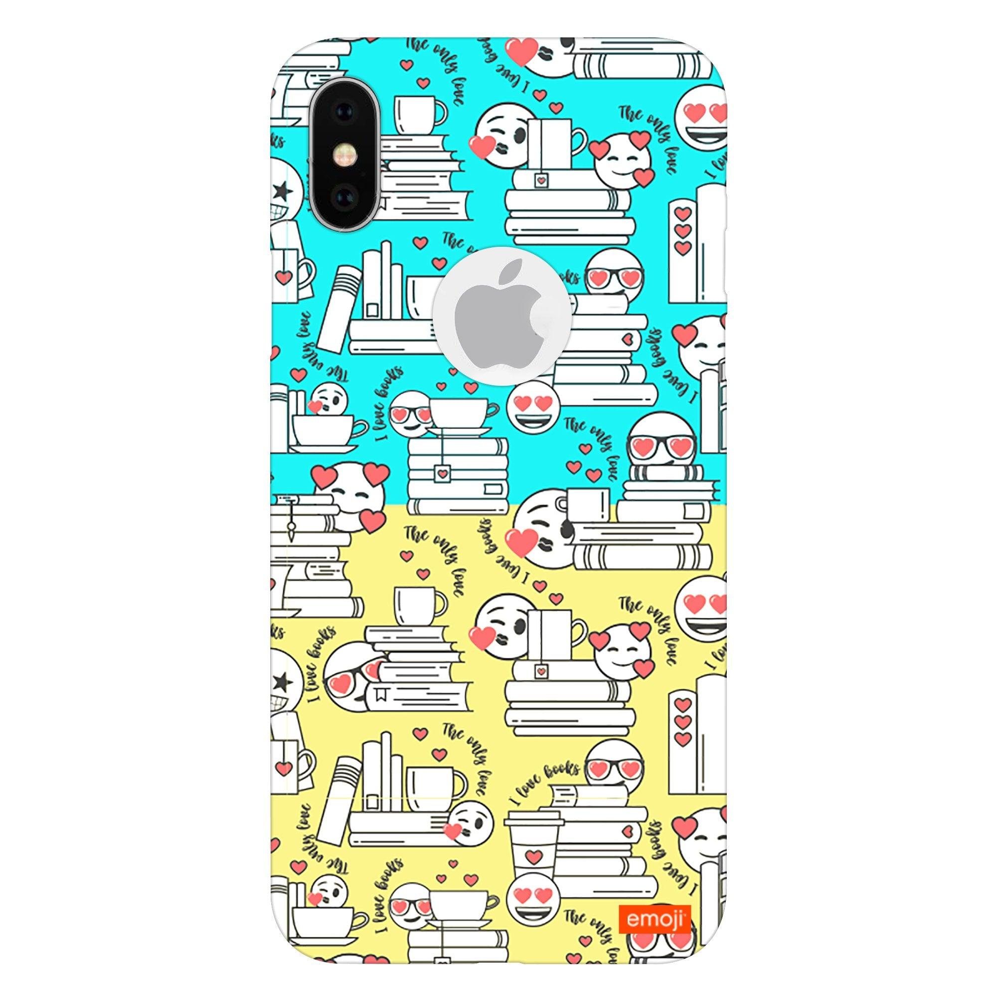 Official Licensed emoji Printed Mobile Case - I Love Books