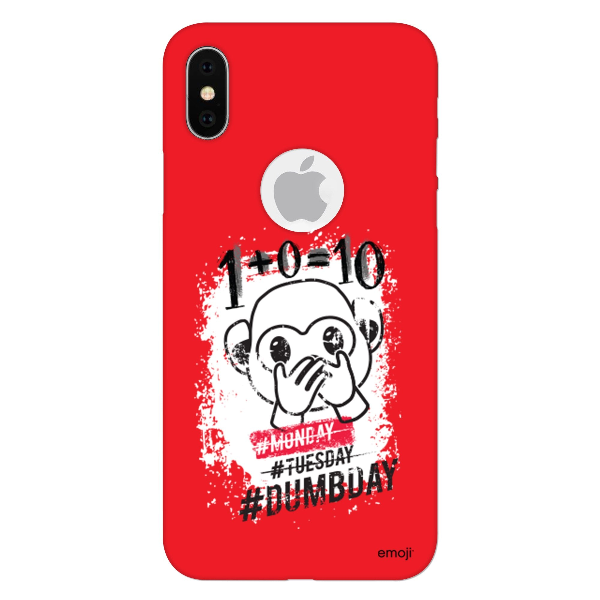 Official Licensed emoji Printed Mobile Case - DUMBDAY