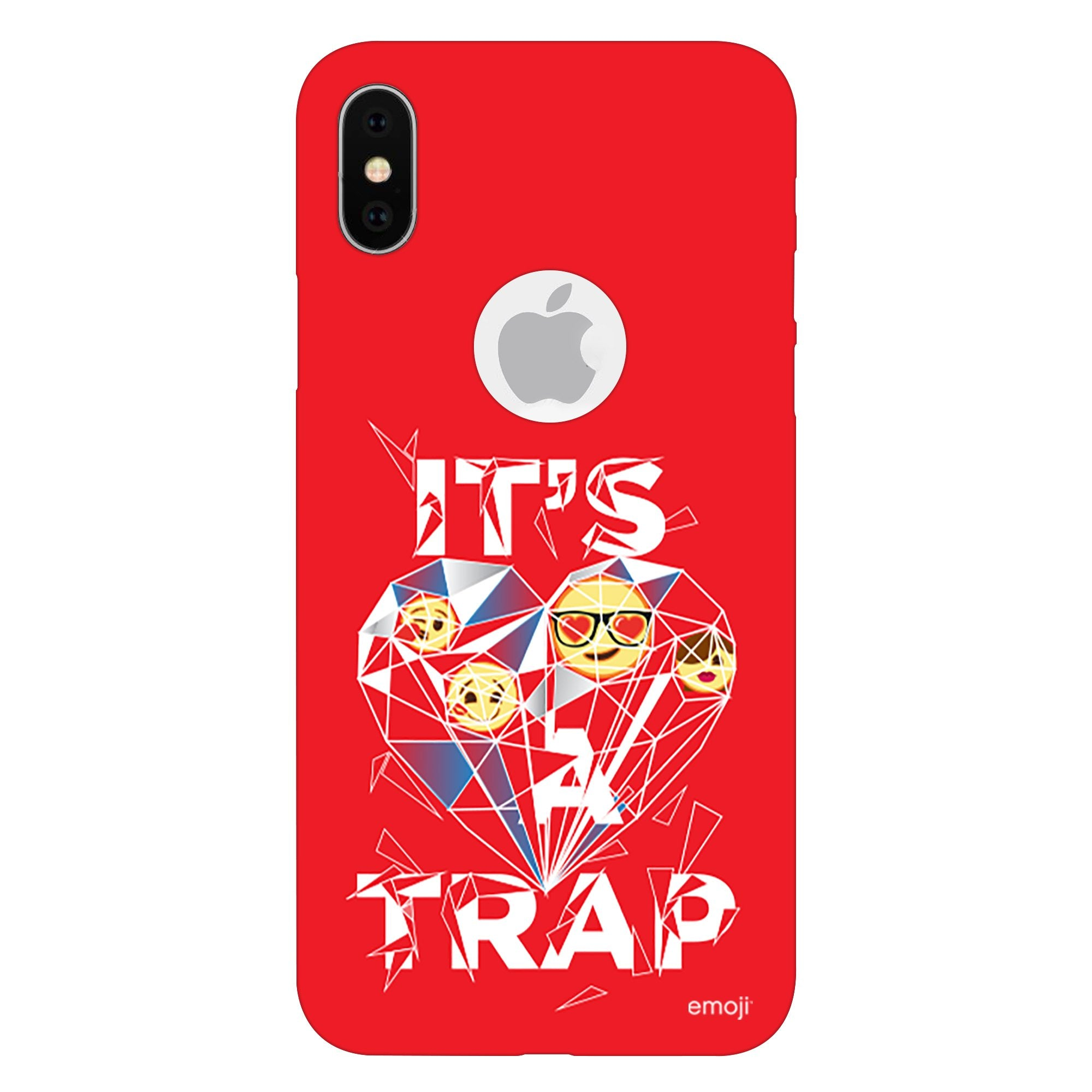 Official Licensed emoji Printed Mobile Case - It's A Trap