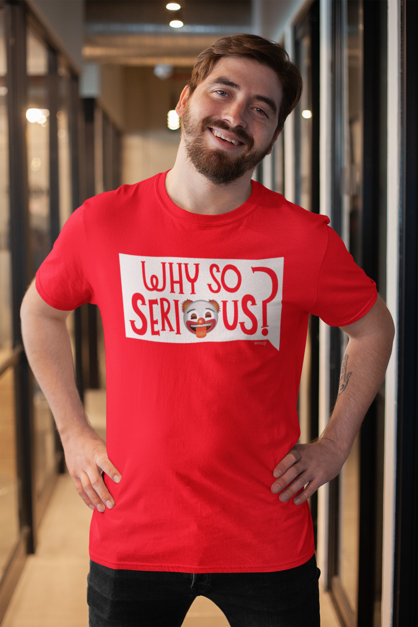 Official Licensed emoji Printed T-Shirt for Men - Why So Serious?