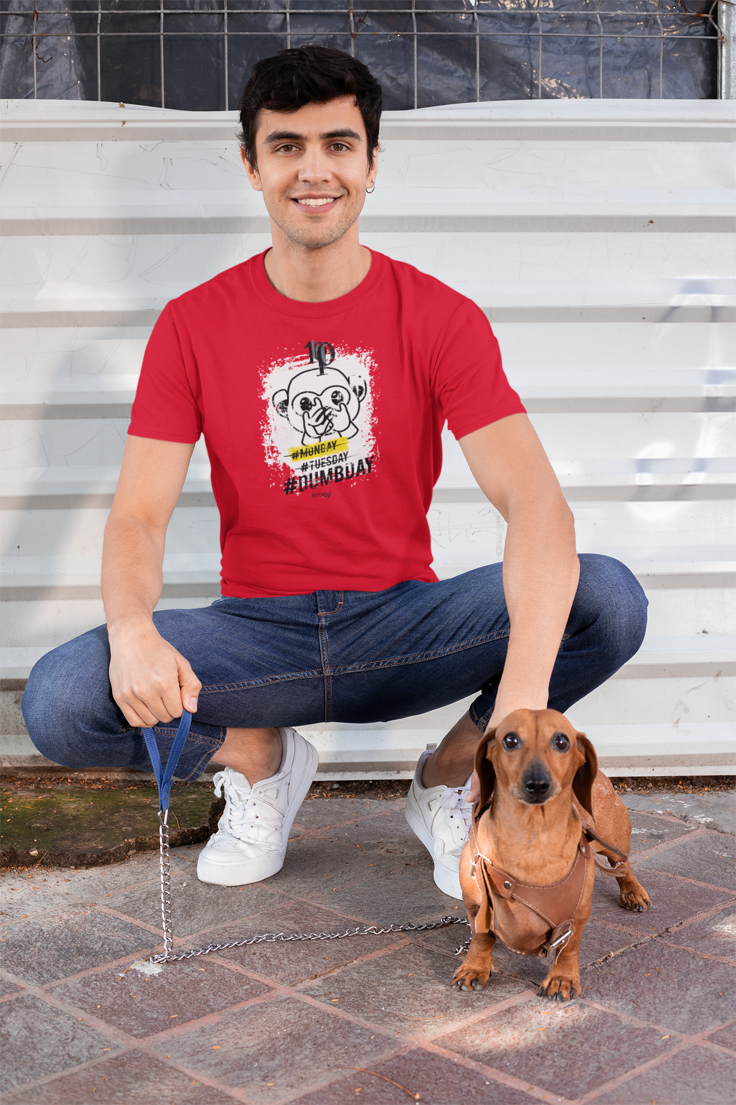 Official Licensed Emoji Printed T-Shirt for Men - DUMBDAY