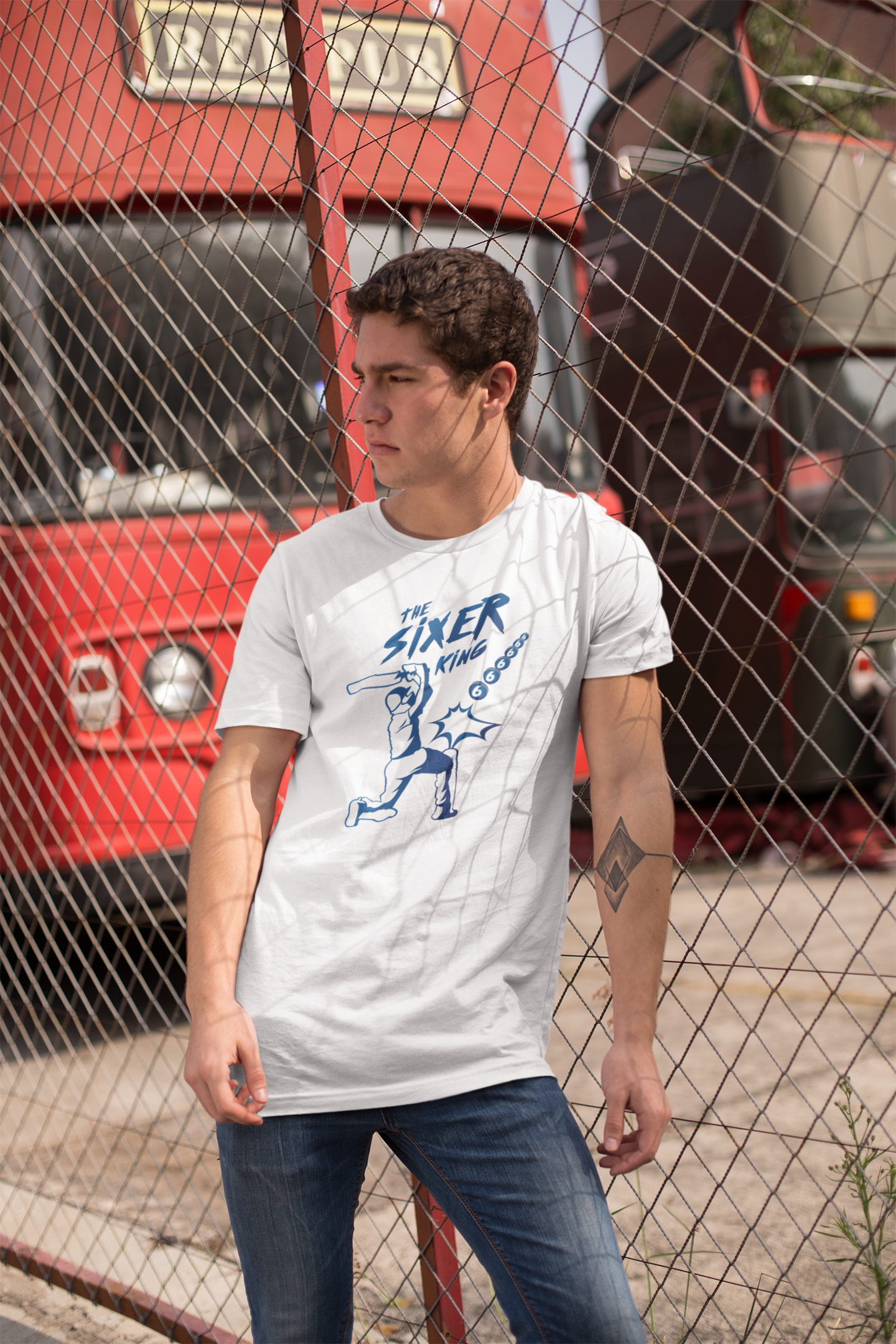 Printed Cricket T-Shirt for Men - The Sixer King
