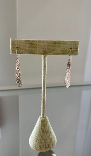 Dimpled Dropped Earrings