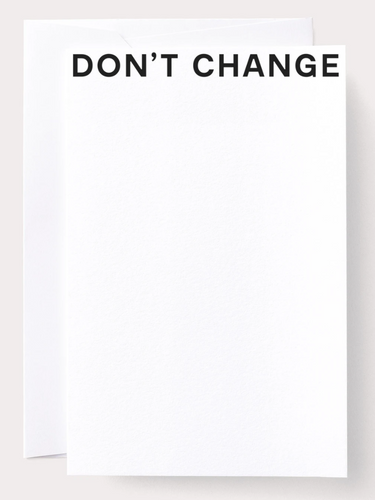 Card - DON'T CHANGE