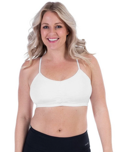 Adjustable Sports Bra // No Headlights White