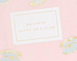 'Happy as a Clam' Card