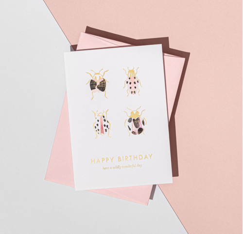 'Happy Birthday' Beetle Card