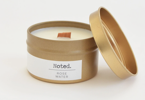 Rose Water Gold Tin Candle