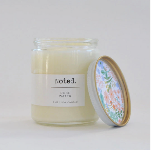 Rose Water 8 oz. Glass Jar Candle