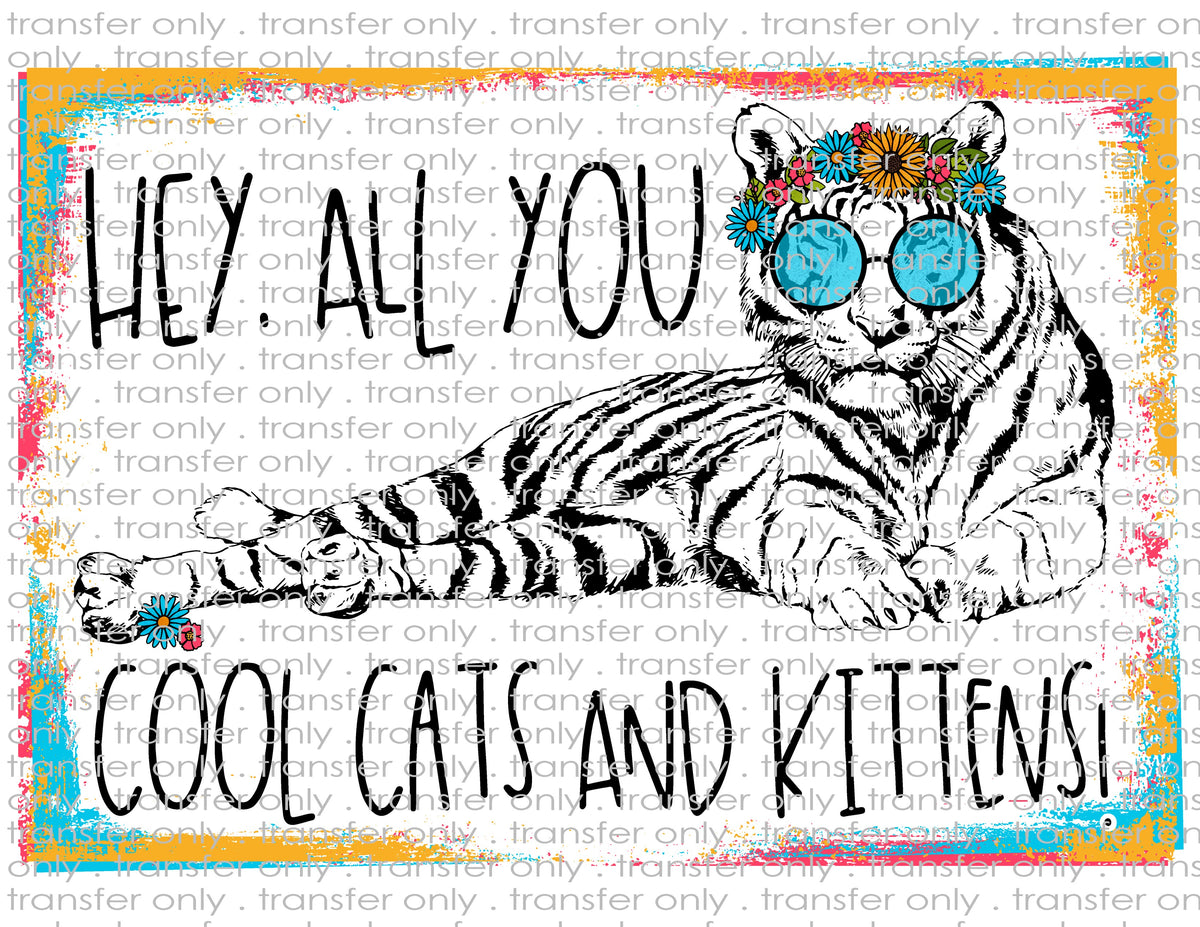 Cool Cats And Kittens Waterslide Sublimation Transfers Crafty Bucks