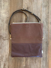 Load image into Gallery viewer, Foldover Clutch with leather trim