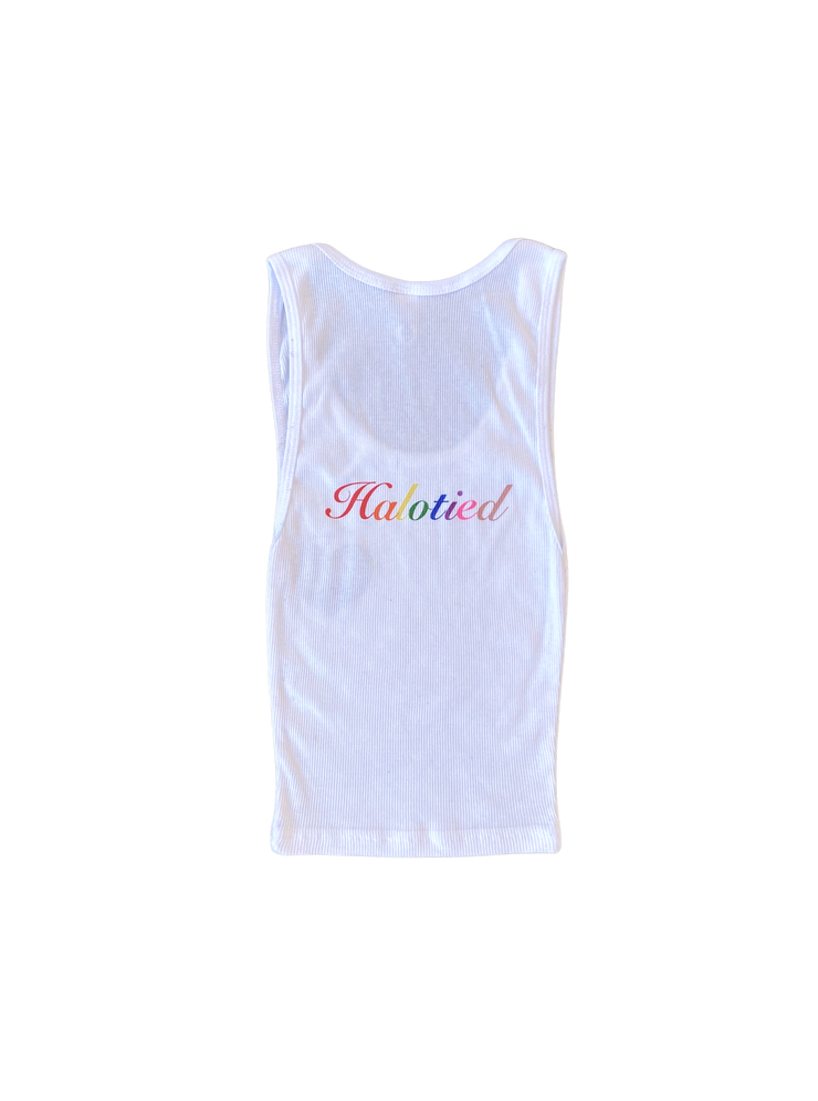 White Halotied x Beverly Hills Club Tank