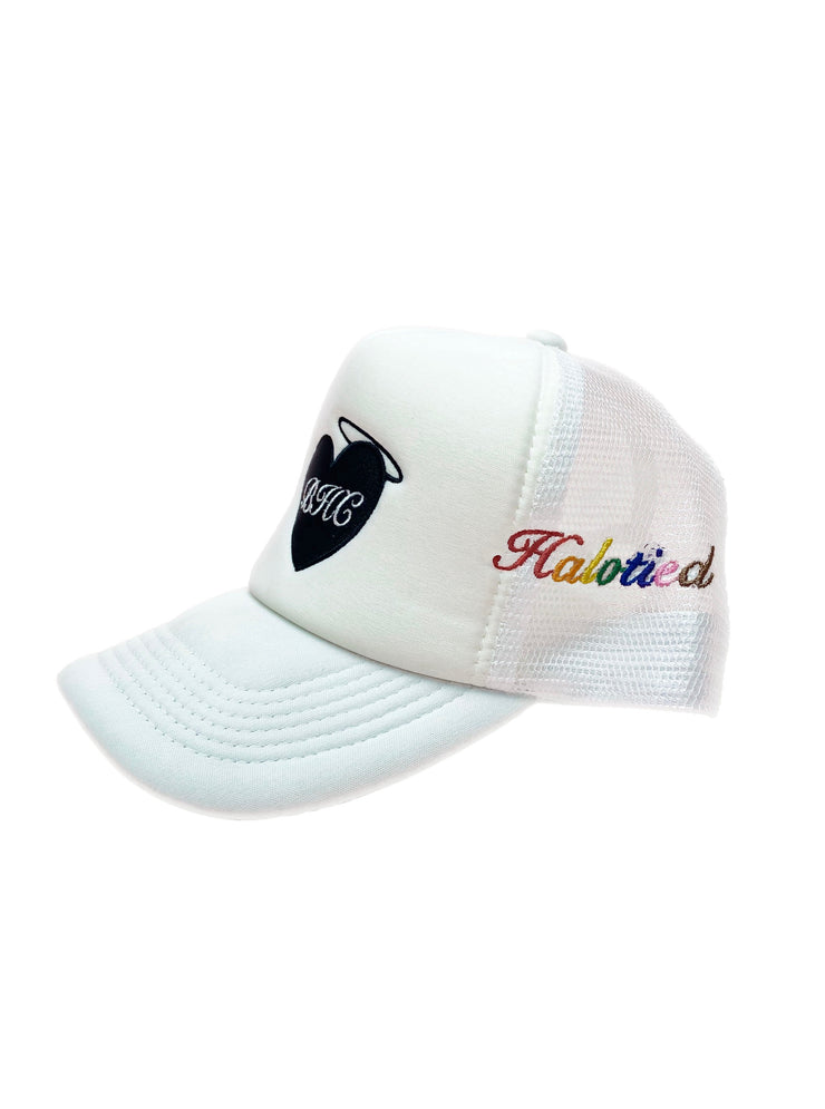 White Halotied x Beverly Hills Club Trucker