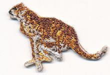 small running cheetah thread applique
