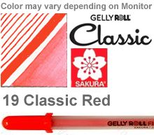 37323 red fine sakura gelly roll pen