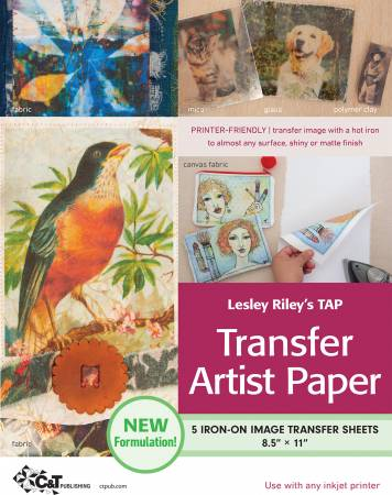Lesley Riley's TAP Transfer Artist Paper, 5 Sheets