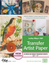 Load image into Gallery viewer, Lesley Riley's TAP Transfer Artist Paper, 18 Sheets