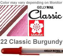 37533 burgundy medium sakura gelly roll pen