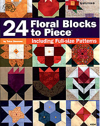 24 floral blocks to piece