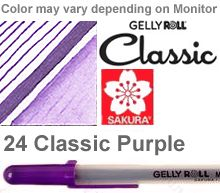 37526 purple medium sakura gelly roll pen