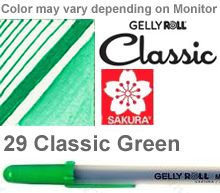37524 green medium sakura gelly roll pen