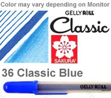 06 blue fine sakura gelly roll pen