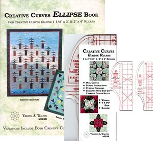creative curves ellipse ruler book package