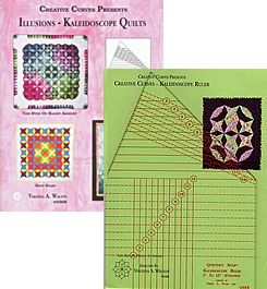 illusions kaleidoscope quilts book and kaleidoscope ruler package