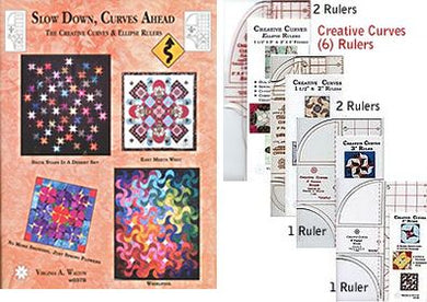 slow down cruves ahead super package book 4 creative curves rulers and 2 creative curves ellipse rulers