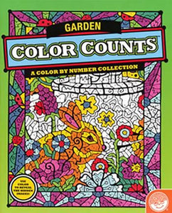 color garden coloring book mindware
