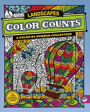 color count landscape coloring book mindware