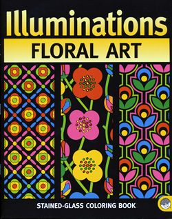 illumination floral art coloring book mindware